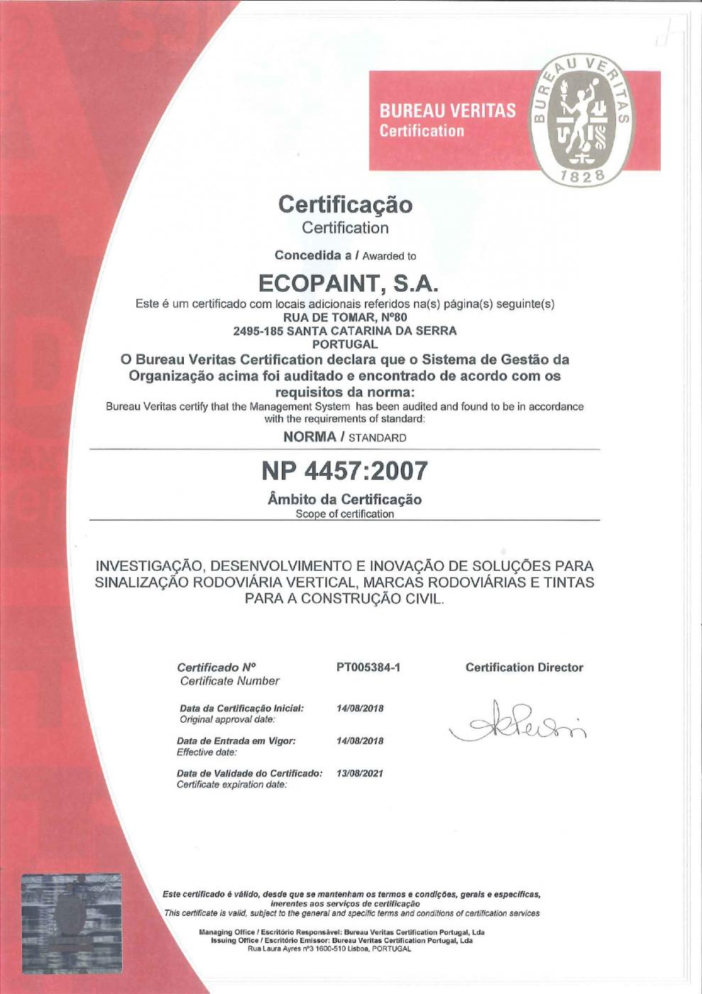 Foto:Ecopaint renews IDI certification